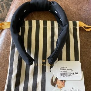 New Lele Sadoughi black knot headband